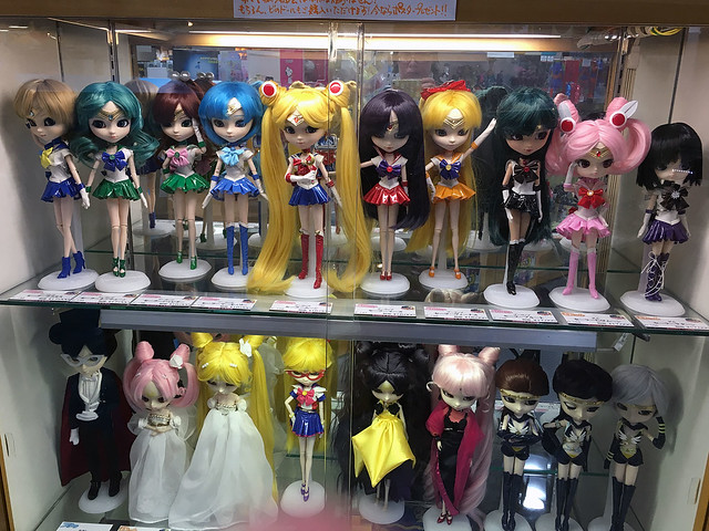 Sailor Moon figures at Kiddyland Osaka Japan