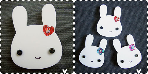 bunny brooches