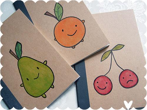 Fruity Friends notebooks