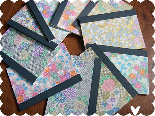 washi notebooks