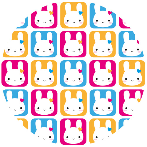 bunny squares pattern - marceline smith