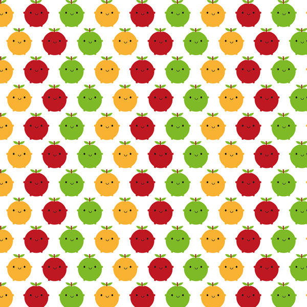 kawaii fruit fabric