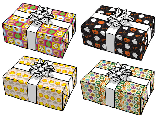 spoonflower gift wrap