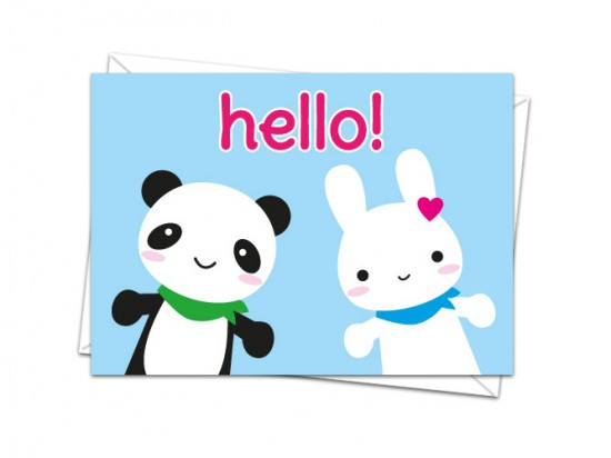 hello bunny and panda