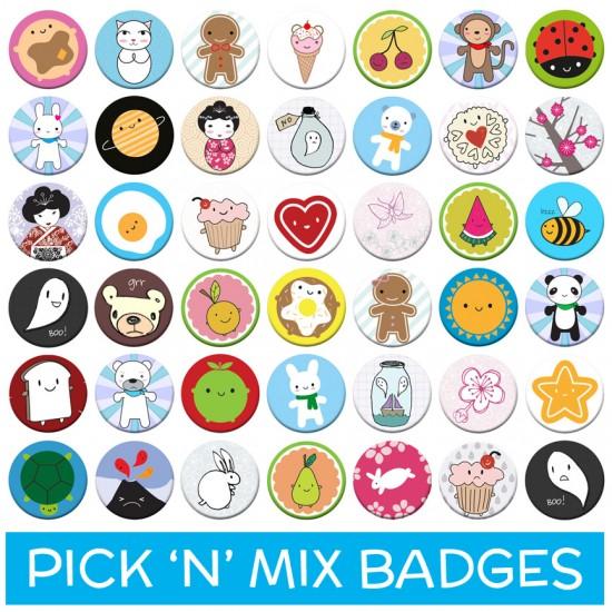 pick 'n' mix badges