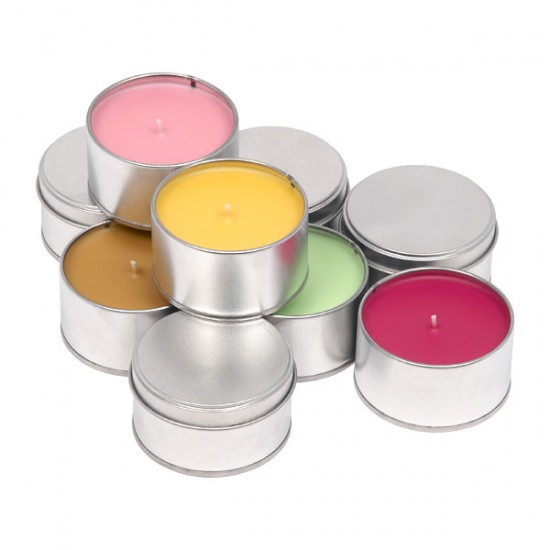 muji tin candles