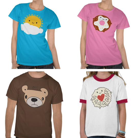 t-shirts at zazzle