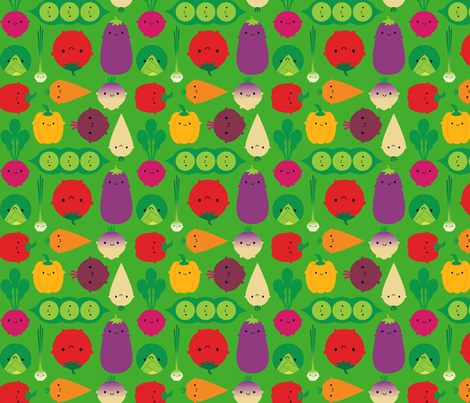 vegetable garden fabric at spoonflower