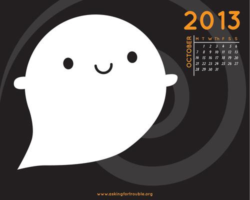 kawaii ghost october wallpaper