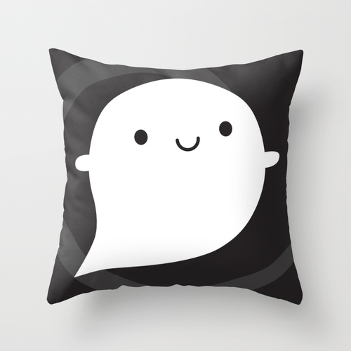 ghost pillow at society6