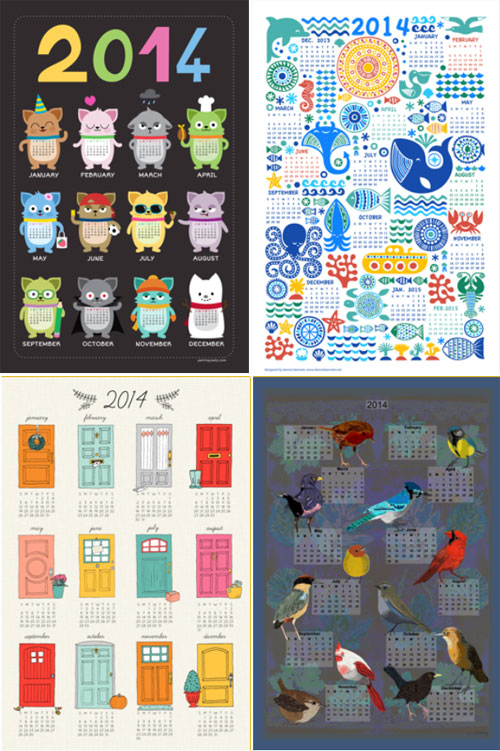 2014 tea towel calendars