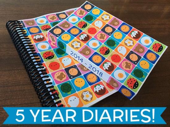 5 year diaries