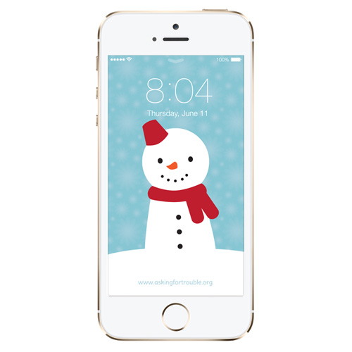 snowman iphone wallpaper