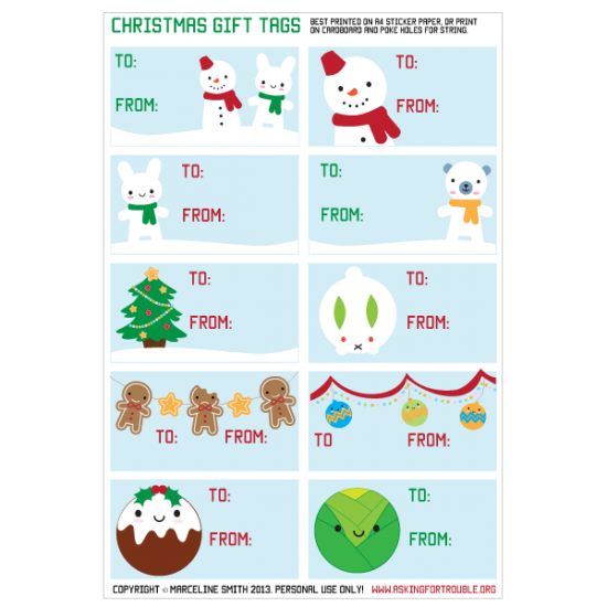 photo about Cute Gift Tags Printable identified as Printable Adorable Xmas Present Tags - Inquiring For Difficulty