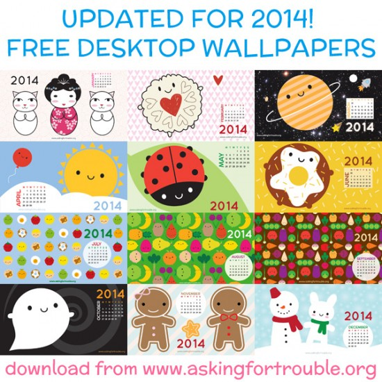 2014 calendar desktop wallpapers