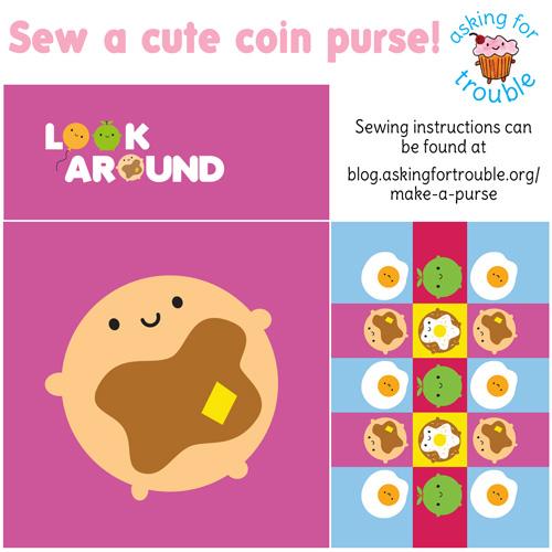 pancake coin purse pattern