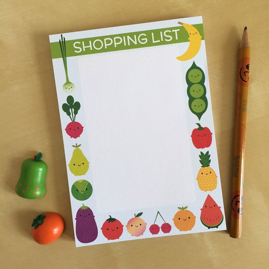 shopping list pad