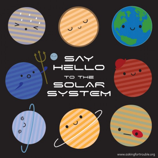 say hello to the solar system