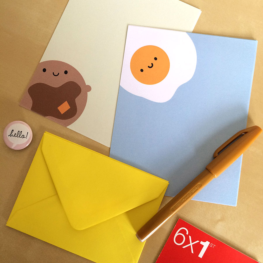 breakfast letter set