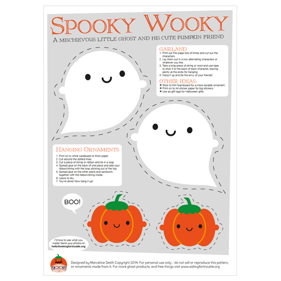 picture regarding Halloween Crafts Printable titled Absolutely free Kawaii Halloween Crafts Printables - Inquiring For Challenge