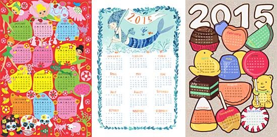spoonflower calendars 2015