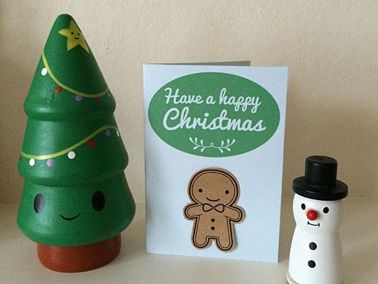 printable gingerbread man card