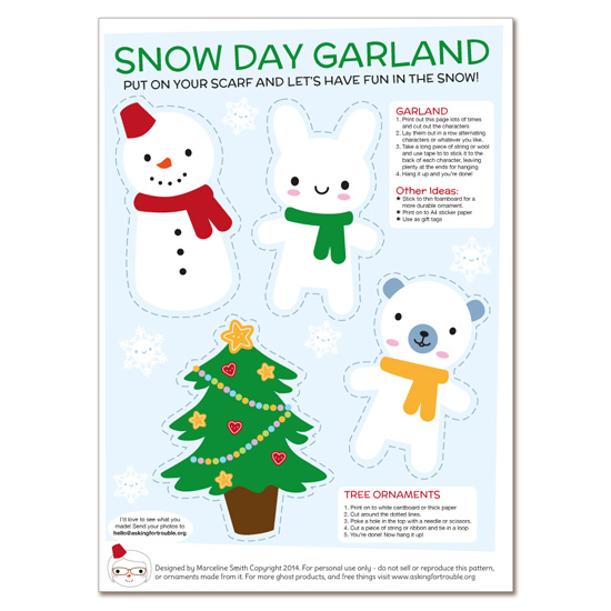 snow day garland