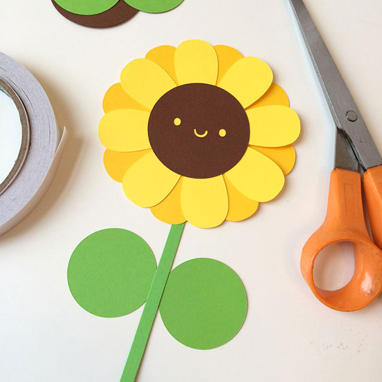 kawaii sunflower paper craft