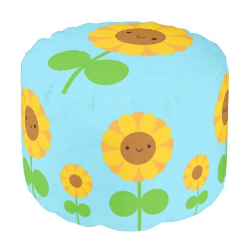 sunflower pouf