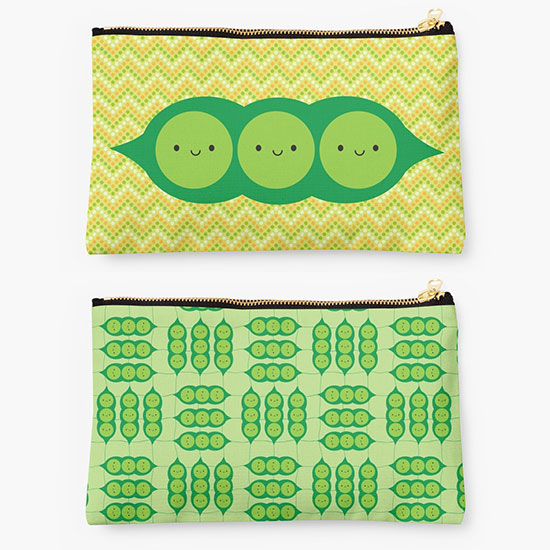 redbubble pouches