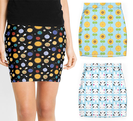 redbubble skirts