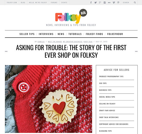 folksy blog