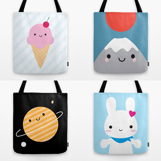 society6 tote bags