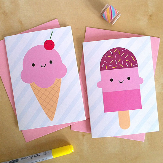 ice cream & ice lolly cards