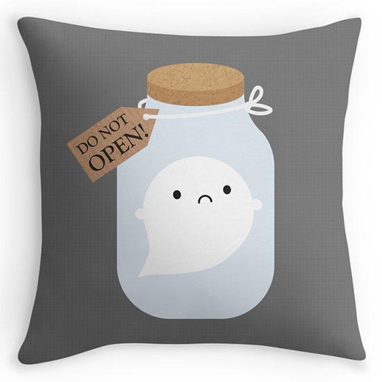 trapped ghost pillow