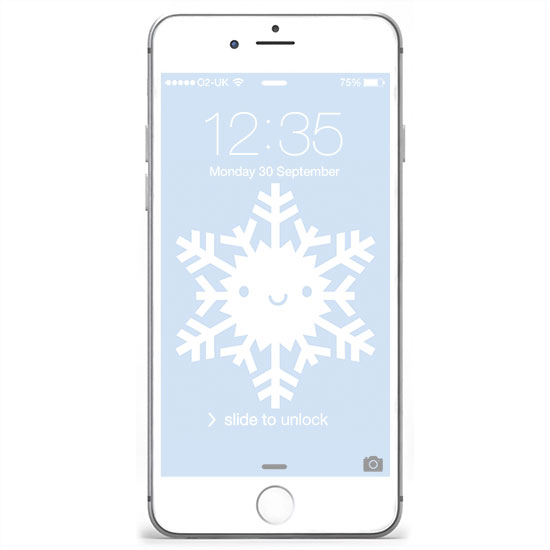 iphone wallpaper - snowflake