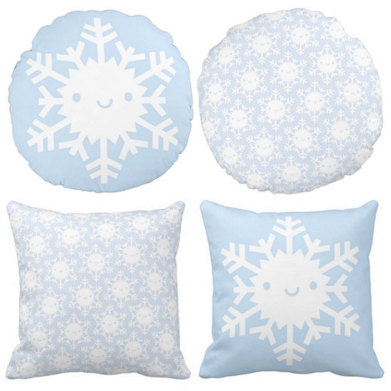 snowflakes pillows