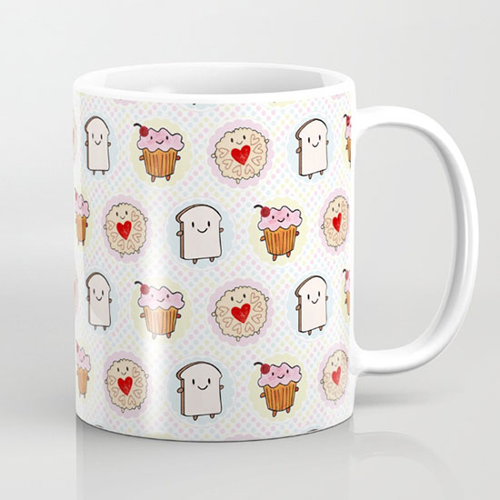 kawaii afternoon tea mug
