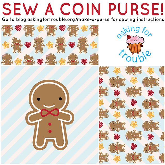 cookie cute coin purse pattern