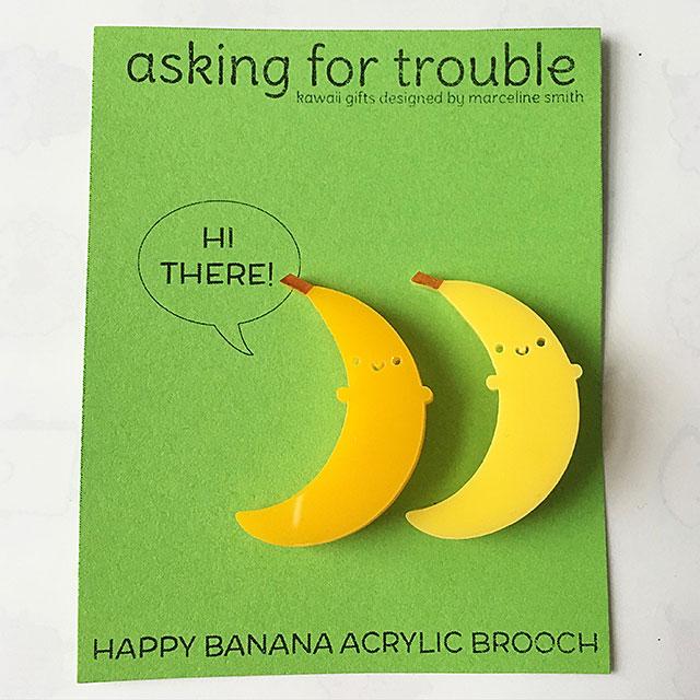 banana brooches
