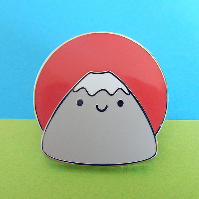 mt fuji enamel pin