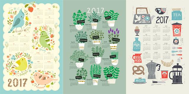spoonflower calendars