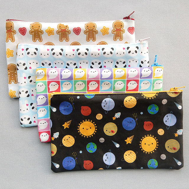 spoonflower fabric pencil cases