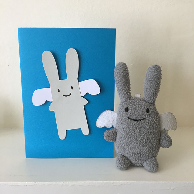 angel bunny card