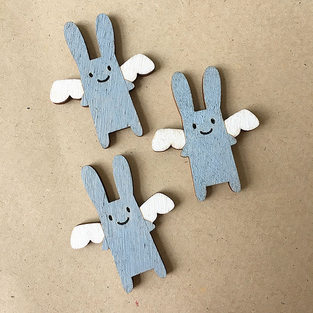 angel bunny brooches
