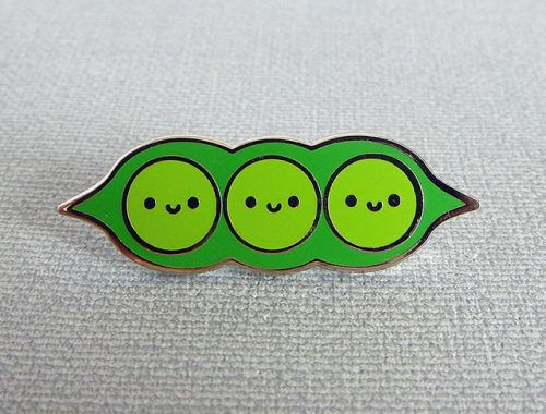 peapod enamel pin - askingfortrouble
