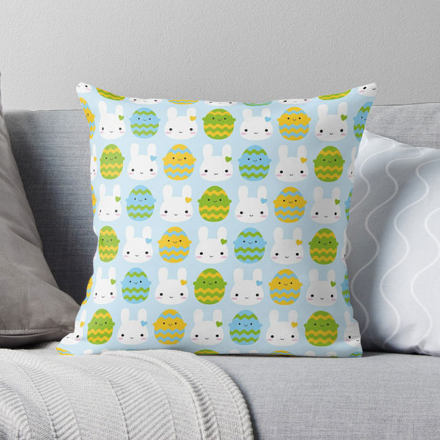 Easter Bunny pillow - Redbubble