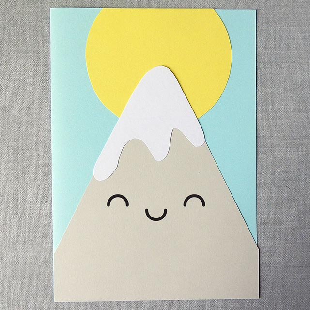kawaii mountain paper craft tutorial copyright marceline smith