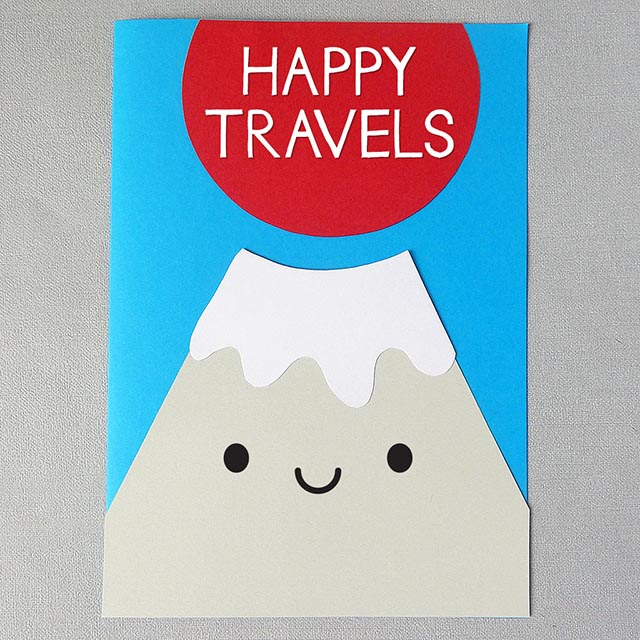 kawaii paper craft fuji card tutorial copyright marceline smith