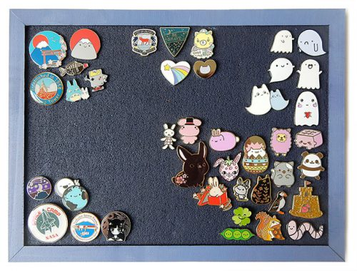 enamel pins display - marcelinesmith